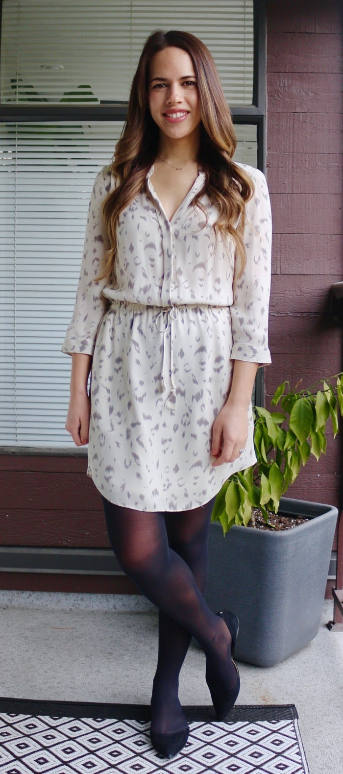 Jules in Flats - Aritzia Babaton Bennett Silk Shirtdress for Work