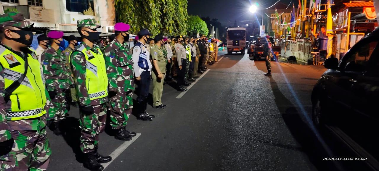 Dinas Perhubungan dan Pol PP Kota Bandar Lampung mengawali pelaksanaan kegiatan Patroli dengan mengadakan apel pengecekan Personil Satgas Disiplin Protokol Covid19