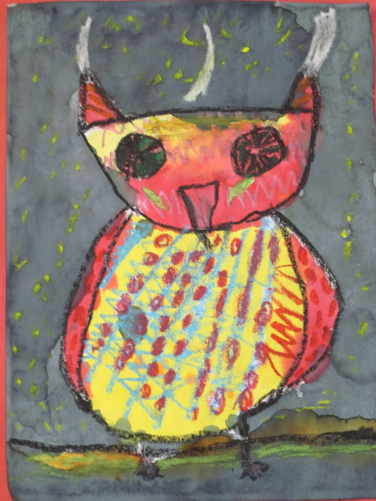 Lines Dots And Doodles Patterned Owls 1st Grade