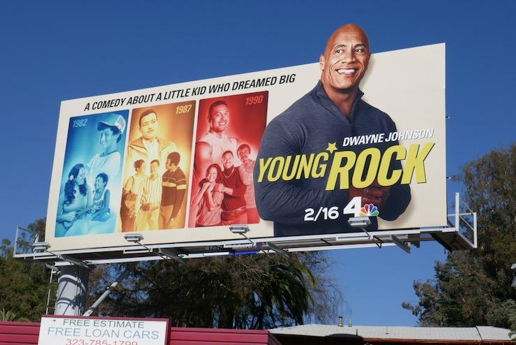Dwayne Johnson Young Rock extension billboard