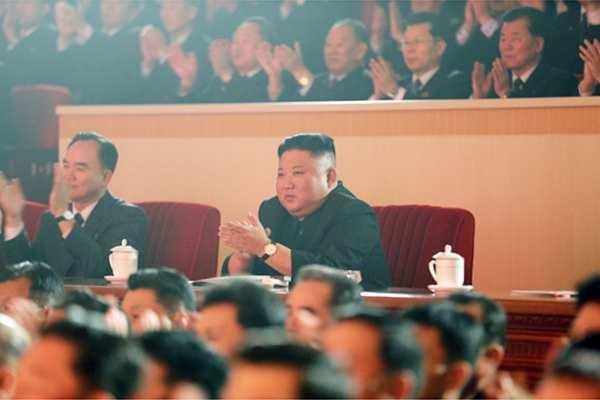 Kim Jong Un at Lunar New Year Performance, February 11, 2021