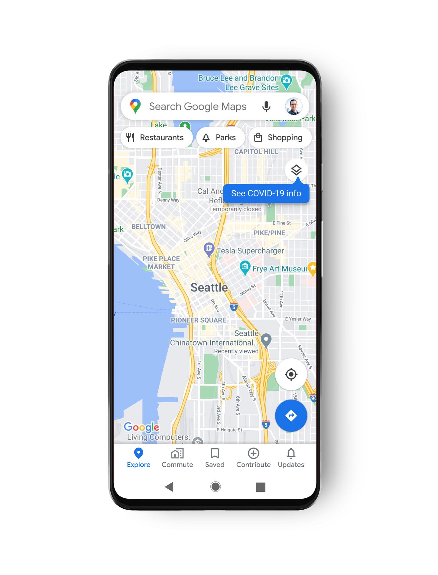 Google Maps vi fa muovere in sicurezza in aree critiche COVID-19