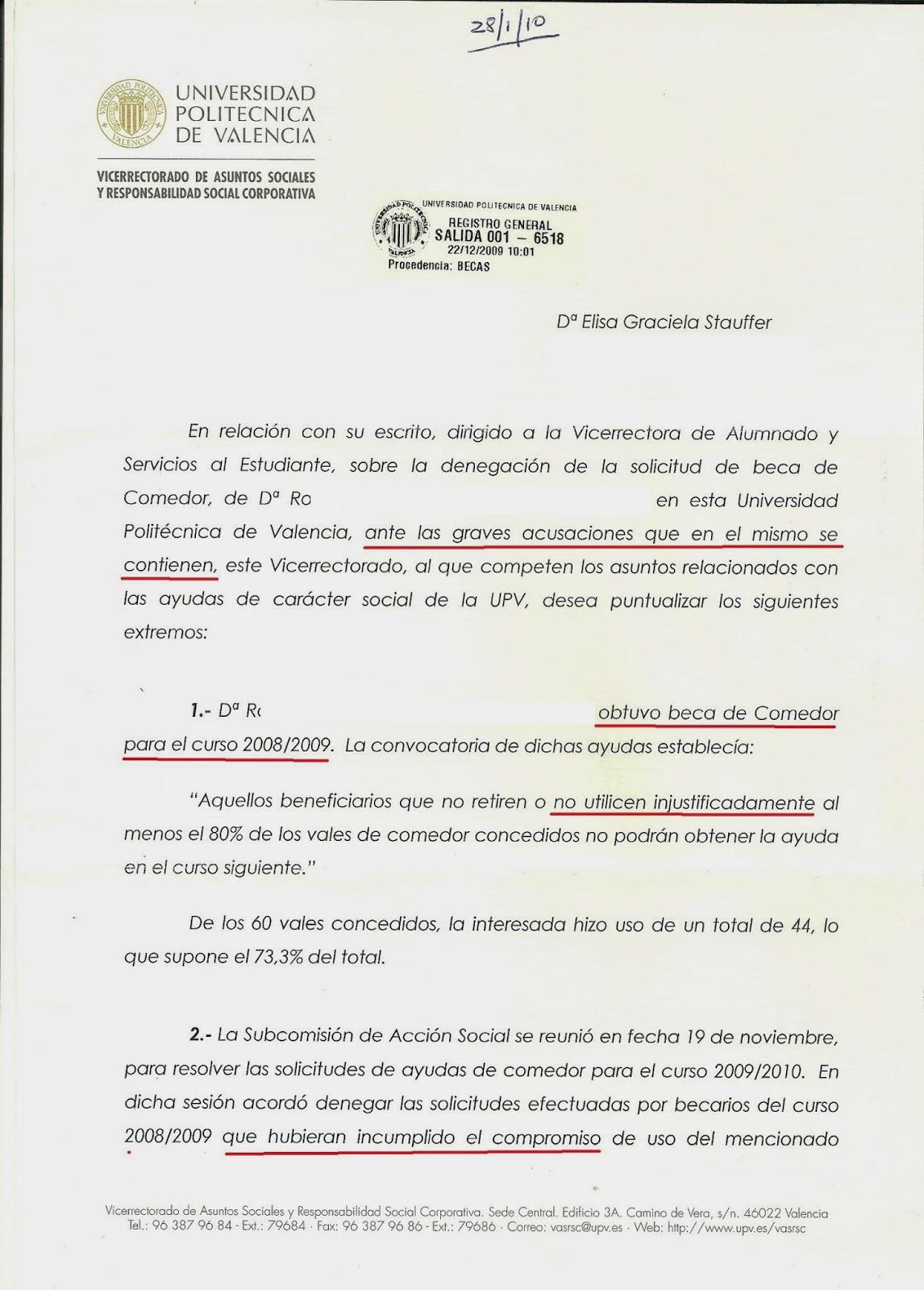 MÁS SOBRE EL CASO DE LA SRA. STAUFFER: \