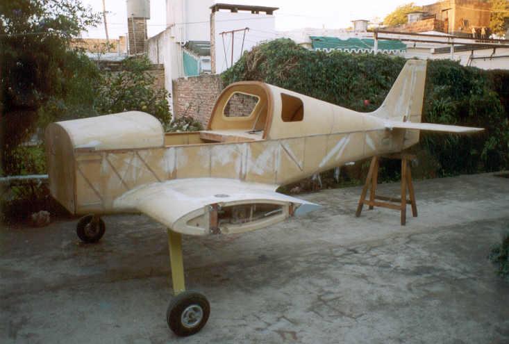El avión KR2 de Eduardo Barros, excelente ejemplar. Foto extraida de su blog