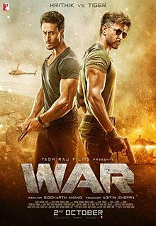 Hrithik Roshan, Tiger Shroff and Vaani Kapoor film War Crosses 300 Crore Mark in 5 days, 1st Bollywood Highest-Grossing of 2019 Wikipedia