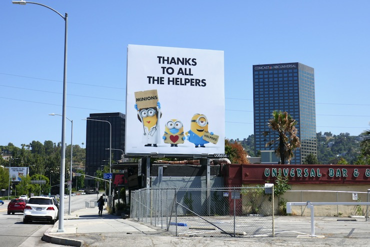 Minions Thanks to helpers billboard