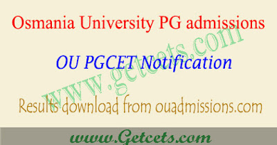 OUCET Results 2019, ou pgcet rank card download 2019,oucet 2019 results,ou pgcet result 2019