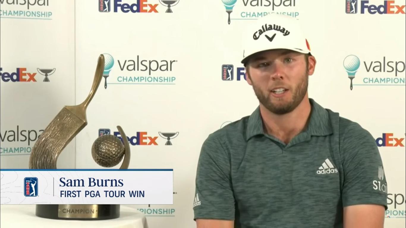 Sam Burns, 24, wins first TOUR title after several close calls