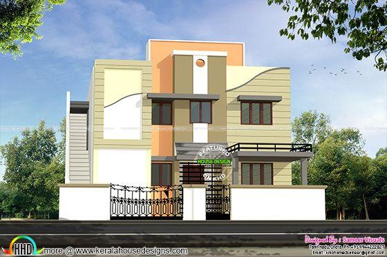 Modern house Tamilnadu style