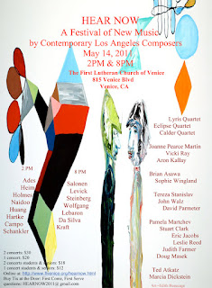 Concert Flyer for the Hear Now Festival 2011 with Los Angeles composers, Venice Beach, CA