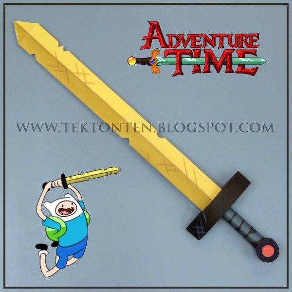 Adventure Time Papercraft Golden Sword Of Battle