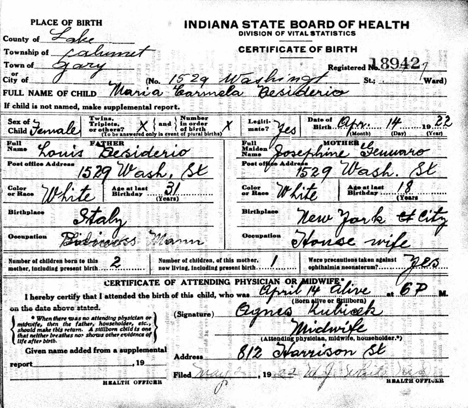 Porter countys past an amateur historians perspective murder certificate number 18942 filed may 2 1922 source indiana state board of health division of vital statistics xflitez Gallery