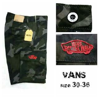 Celana Pendek Vans Army Pria