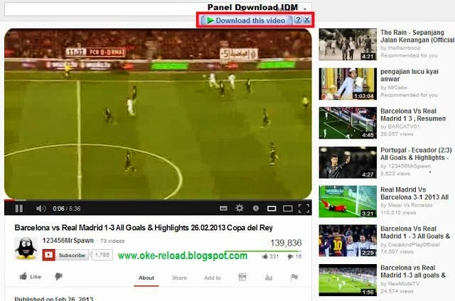 Link Download IDM di Youtube Muncul