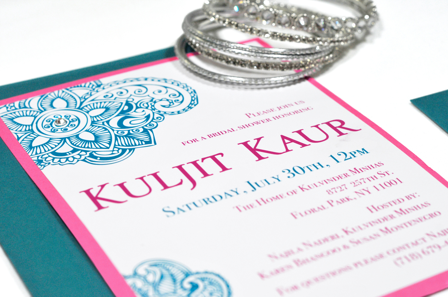Indian Bridal Shower Invitation