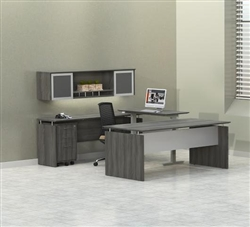 Executive Desk with a Sit To Stand Bridge