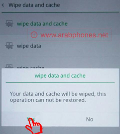 فرمتة هاتف أوبو Oppo f1s عبر الريكفري