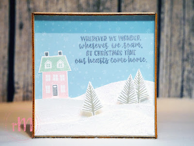 Stampin' Up! rosa Mädchen Kulmbach: Stamp A(r)ttack Blog Hop: Hurra, es schneit! – Dekorahmen mit From our house to yours