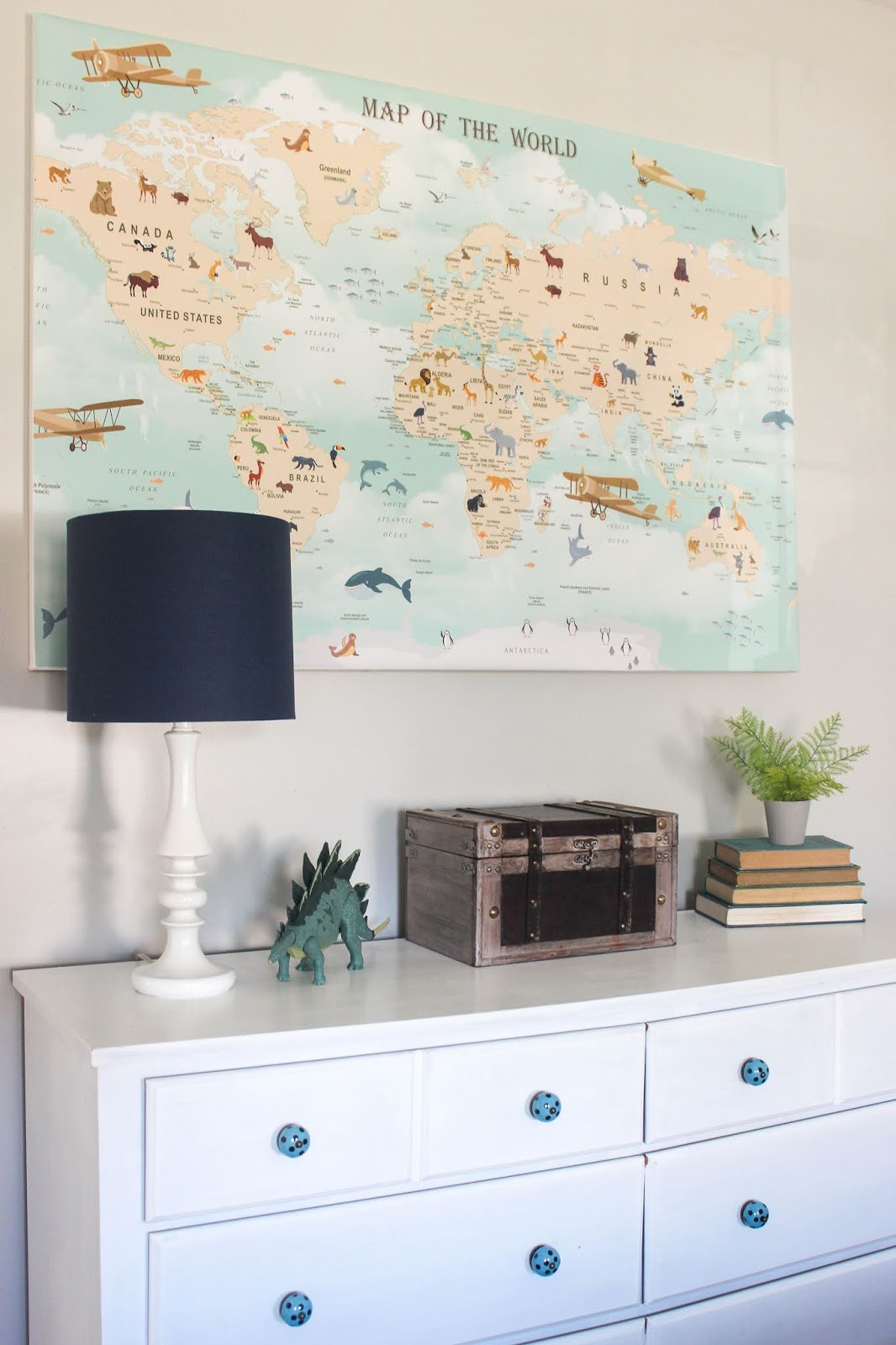 wall map kids room