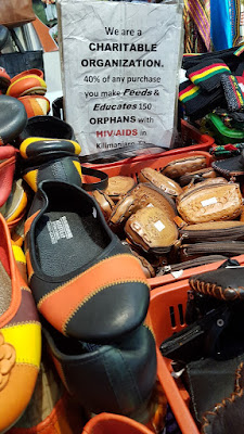 The USaidizi Orphans Organisation supports orphans with HIV and AIDS in Tanzania, Africa. Leather goods were made of camel skin.