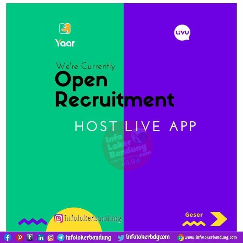 Lowonga Kerja Host Livu Bandung Juli 2021