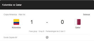 Hasil Skor Copa America 2019: Kolombia Vs Qatar 1-0