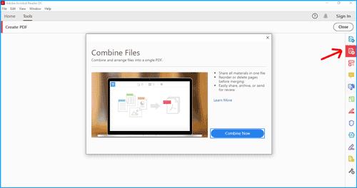 cara menggabungkan file pdf dengan adobe reader