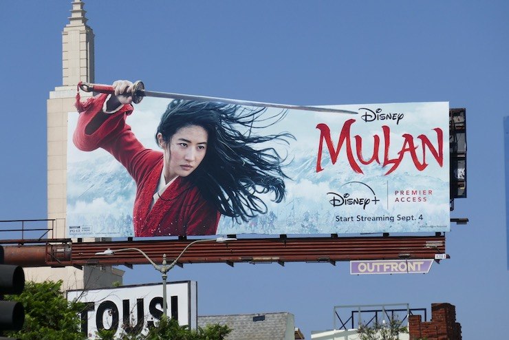 Mulan Disney Premier Access cutout billboard