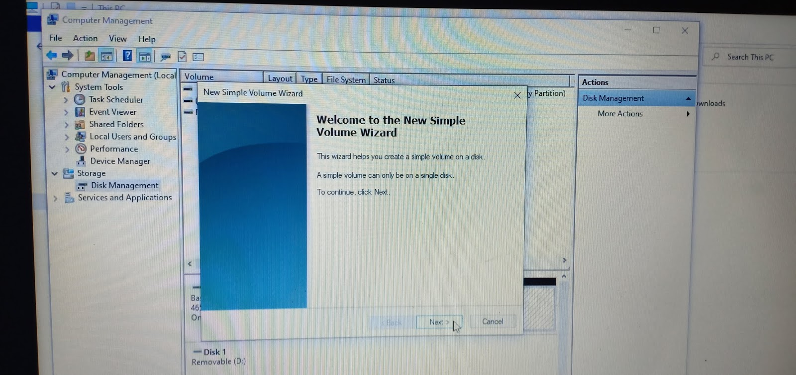 Unallocated Disk Space Partition Windows