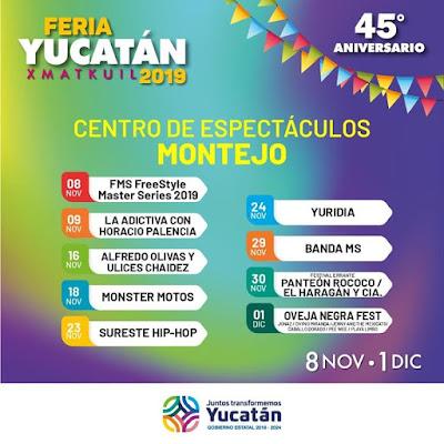 centro de espectáculos montejo feria yucatán 2019