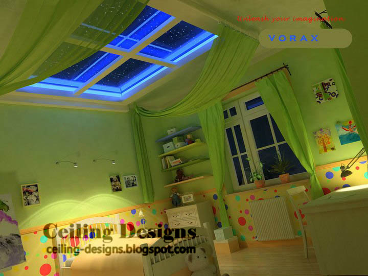 Pvc false ceiling design for kids room for Children s bathroom designs