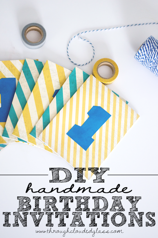 Handmade First Birthday Invitations DIY