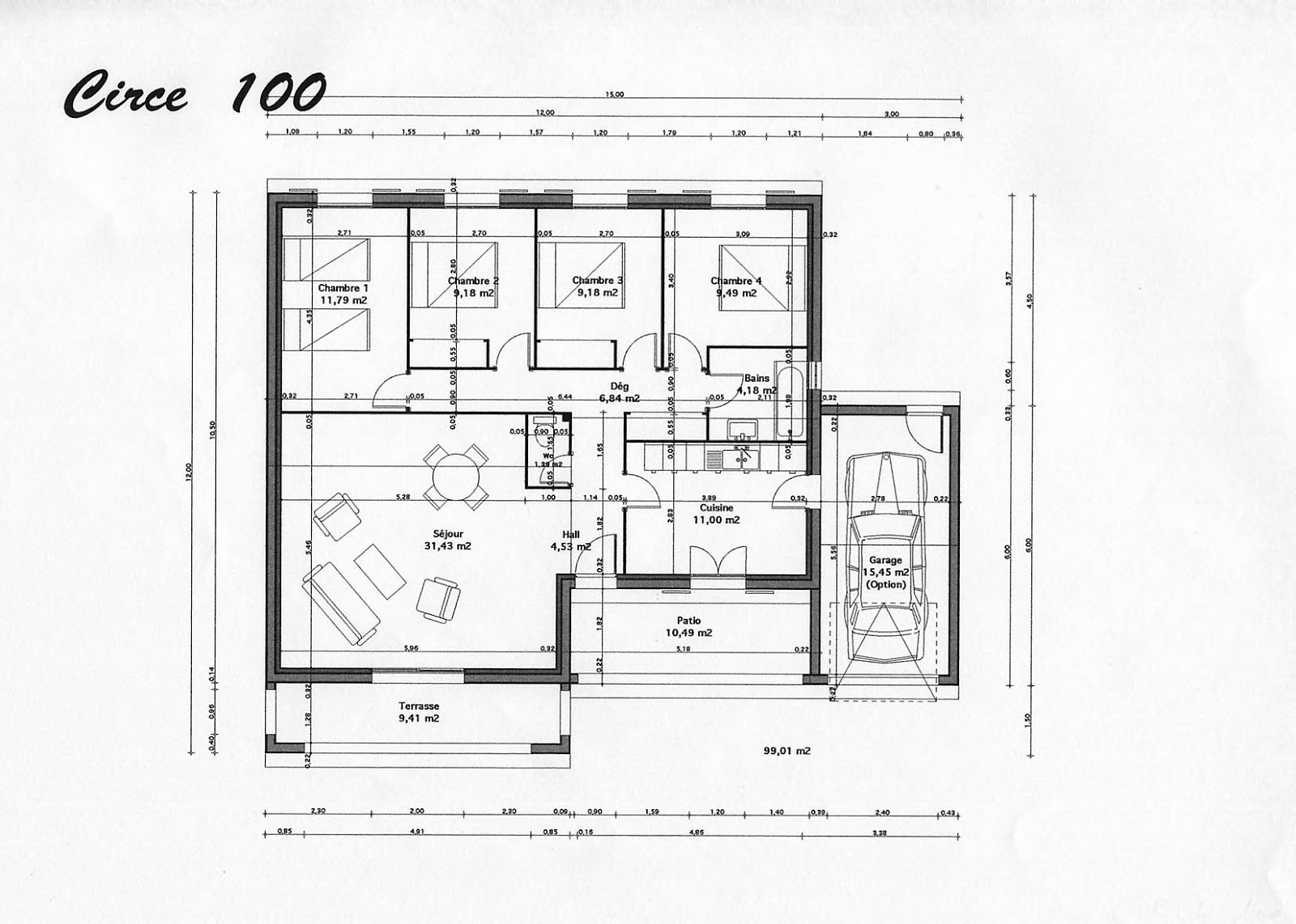 plan maison tunisie latest plan maison architecte moderne. Black Bedroom Furniture Sets. Home Design Ideas
