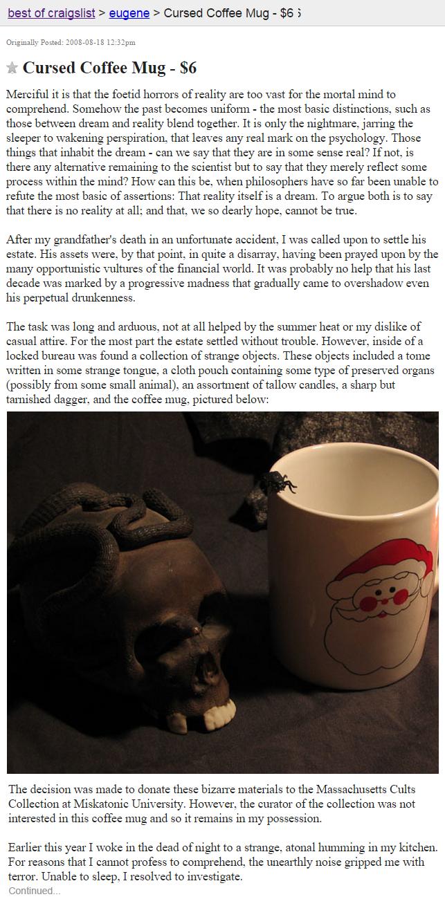 HALLOWEEN COUNTDOWN: Craigslist's 13 Most Haunted ...