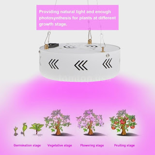Full Spectrum UFO 216W LED Grow Light Indoor Hydroponic Veg Lamp Panel US F9H2