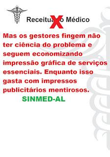 Saúde de Alagoas : Falta até receituário...