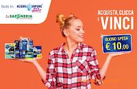 Logo Concorso ''Vinci in cassa '' da Acqua&Sapone e La Saponeria
