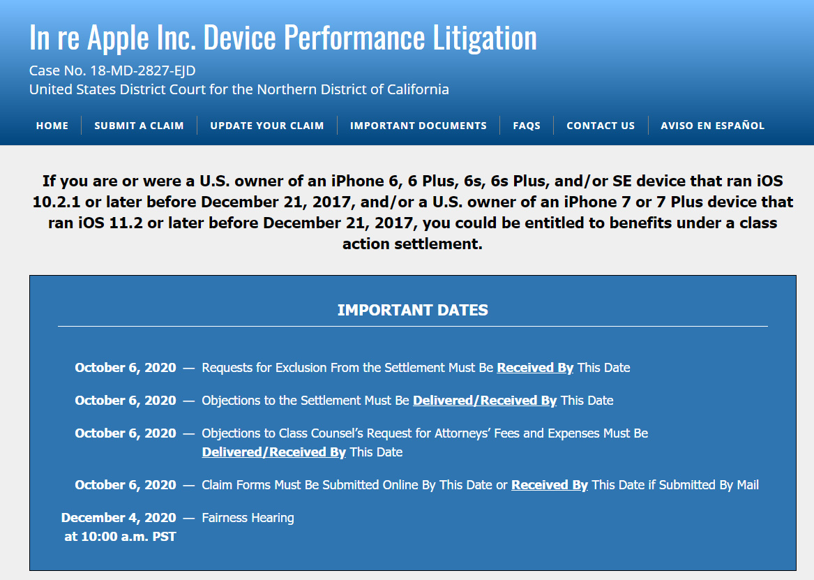In re Apple Inc. Device Performance Litigation