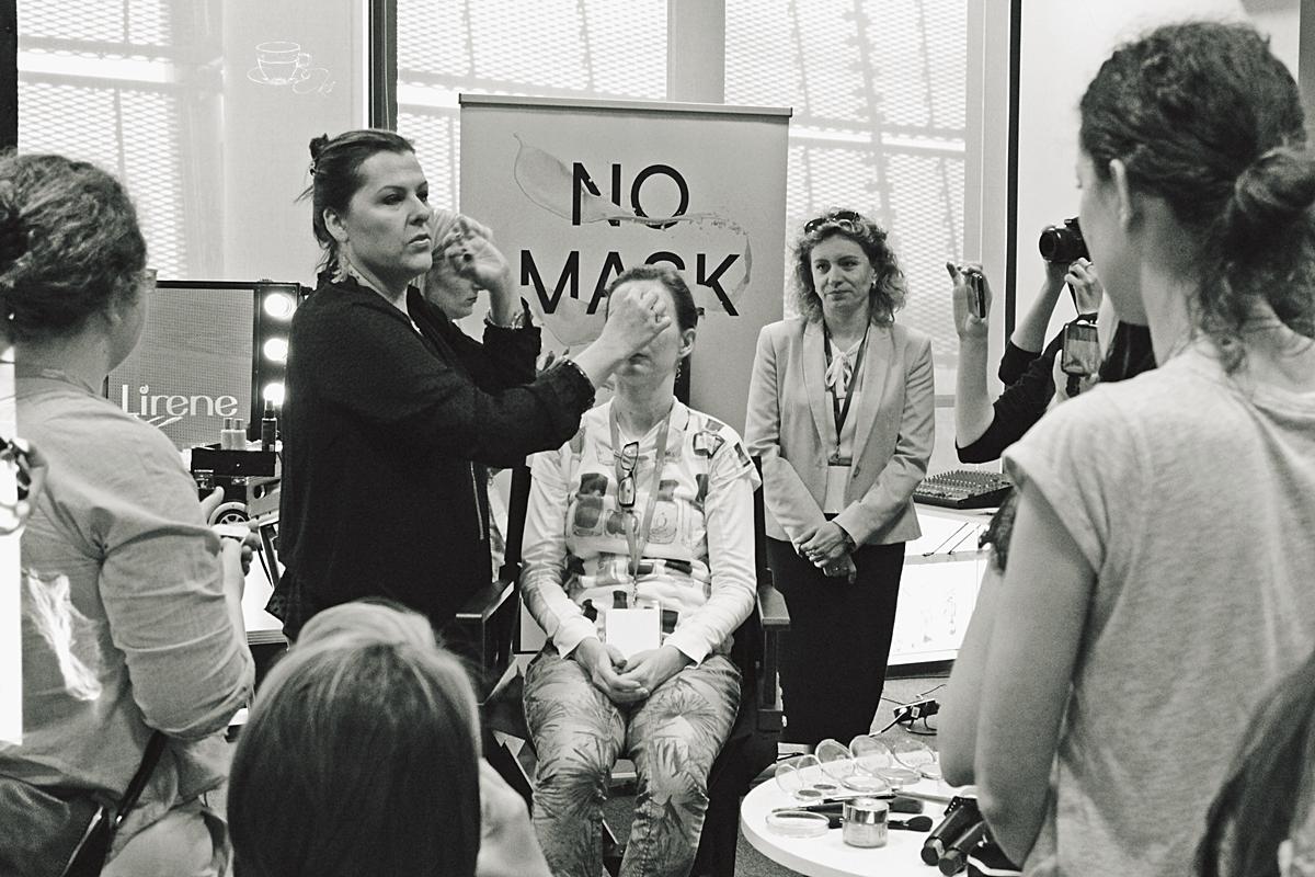Warsztaty z marką Lirene poprowadziła Anna Orłowska, testowała nowy podkład No Mask