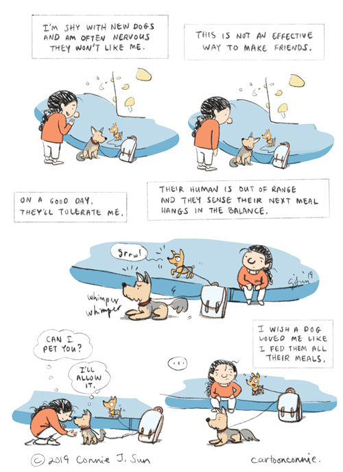 journal comics, dogs, illustration, cartoonconnie, connie sun, climbing gym, comics, humor