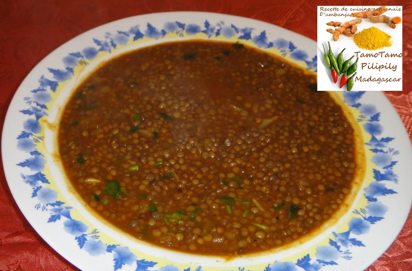 Cuisine artisanale d 39 ambanja madagascar lentille la - Recette comment cuisiner les lentilles ...