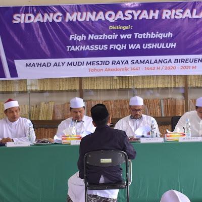 Ma'had Aly MUDI Gelar Sidang Munaqasyah Risalah Perdana