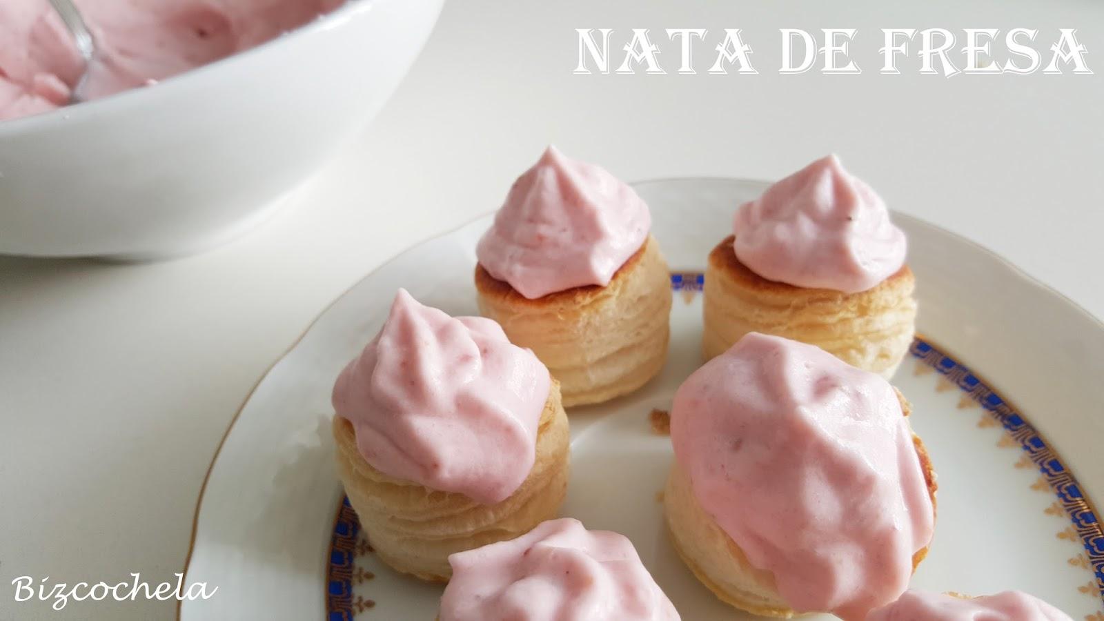 Nata de fresa - Como hacer nata para cocinar ...