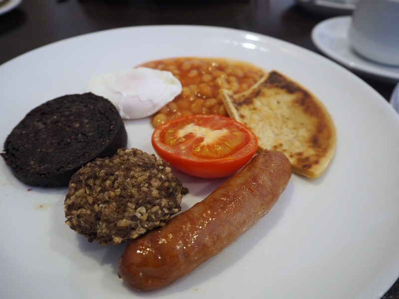 Scottish breakfast at the Elphinstone Hotel, Biggar