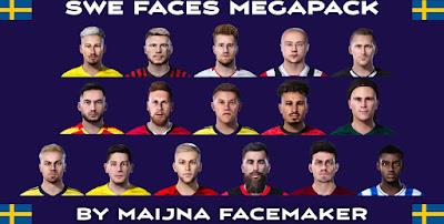 PES 2021 Sweden Mega FacePack by Maijna