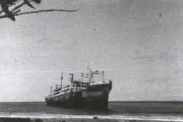 SS President Taylor after running aground, 13 February 1942 worldwartwo.filminspector.com