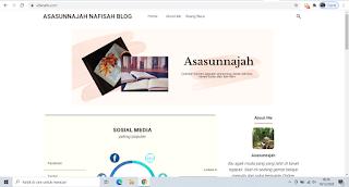 Tampilan blog setelah diubah fiksioner