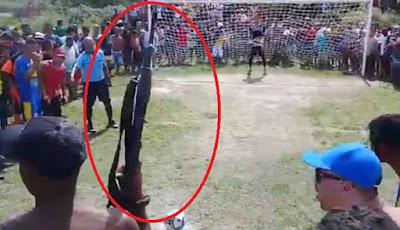 Ngeri, Adu Penalti Sambil Diacungi Senapan Laras Panjang di Brasil