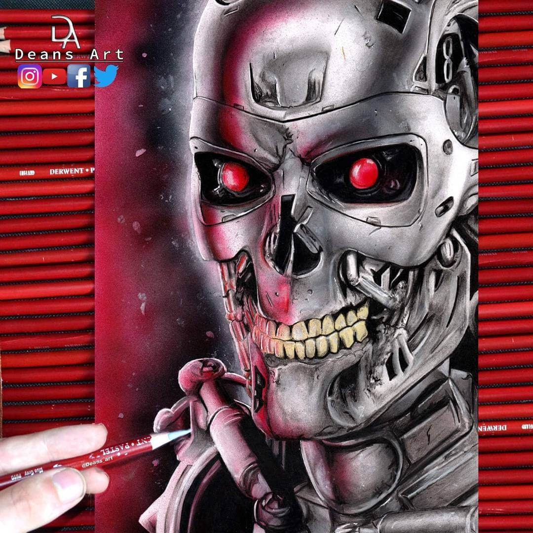 11-T-800-Terminator-Dean-McCann-Superheroes-Villains-Monsters-and-Robot-Drawings-www-designstack-co