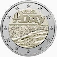 Normandian maihinnousu Ranska 2014 kolikko